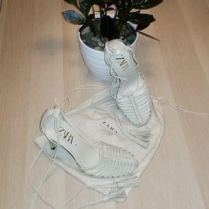 ZARA New w/Shoe Bag Strappy Stiletto